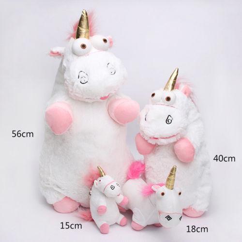 Lovely Kawaii Plush Stuffed Toy Unicorn Pendant Cuddly Kids Gift Fluffy 56cm New stuffed toy