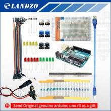 ЛАНДЗО arduino 13 в 1 комплект новый Starter Kit ООН R3 мини Макет LED перемычка кнопку arduino uno r3 as a подарок
