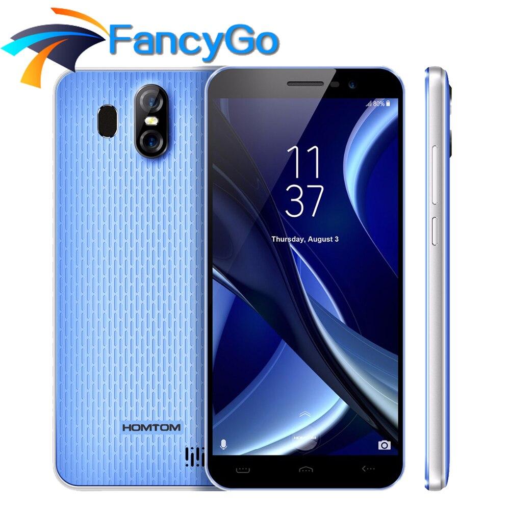 HOMTOM S16 5.5 Inch 18:9 Edge-Less Smartphone MTK6580 Quad Core 2GB RAM 16GB ROM 13MP 8MP 3000mAh Fingerprint 3G Mobile Phone