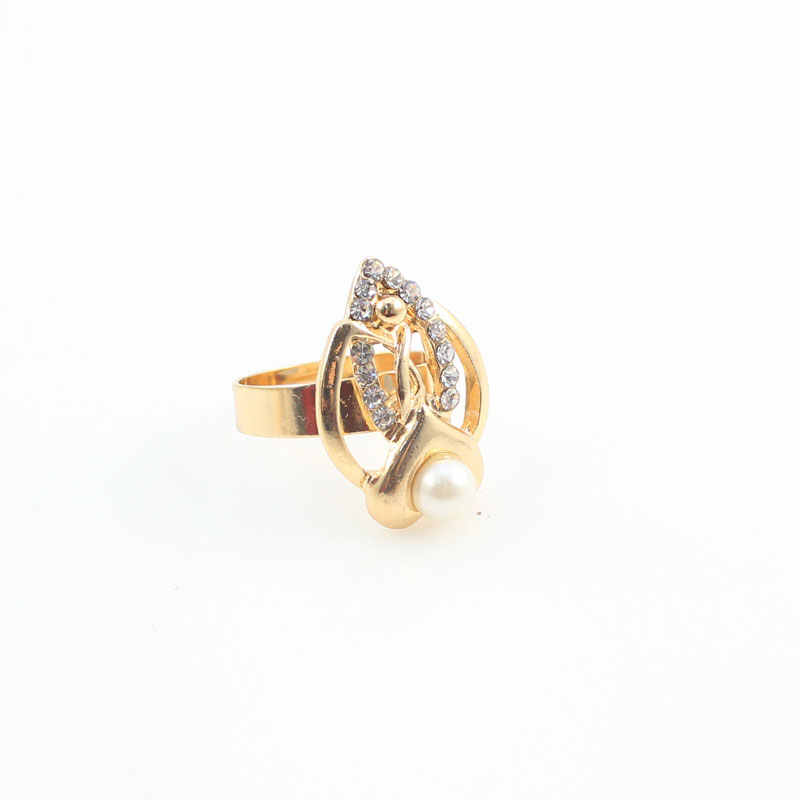الذهب اللون تقليد اللؤلؤ الزفاف زي قلادة طقم أقراط موضة رومانسية واضح كريستال المرأة حفلة هدية مجموعات مجوهرات