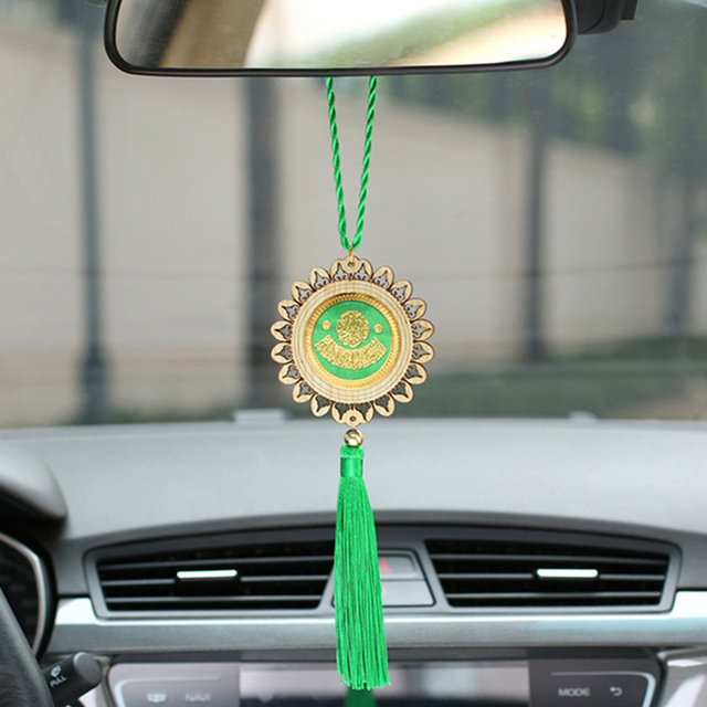 Car Decoration Pendant Fashion Islam Style Hanging Auto Interior Rearview Mirror Gear  Accessory Trim  Ornament Car-styling Gift