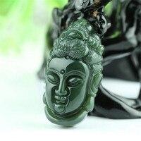 Hetian jades avalokitesvara head pendants men and women jades pendants necklace lovers wholesale jades pendants