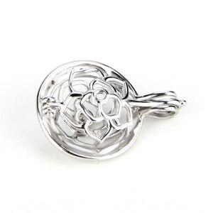 Image 2 - CLUCI colgante de plata de primera ley con forma de bola para mujer, joya para collar, plata esterlina 925, relicario de perlas, 3 uds., SC059SB