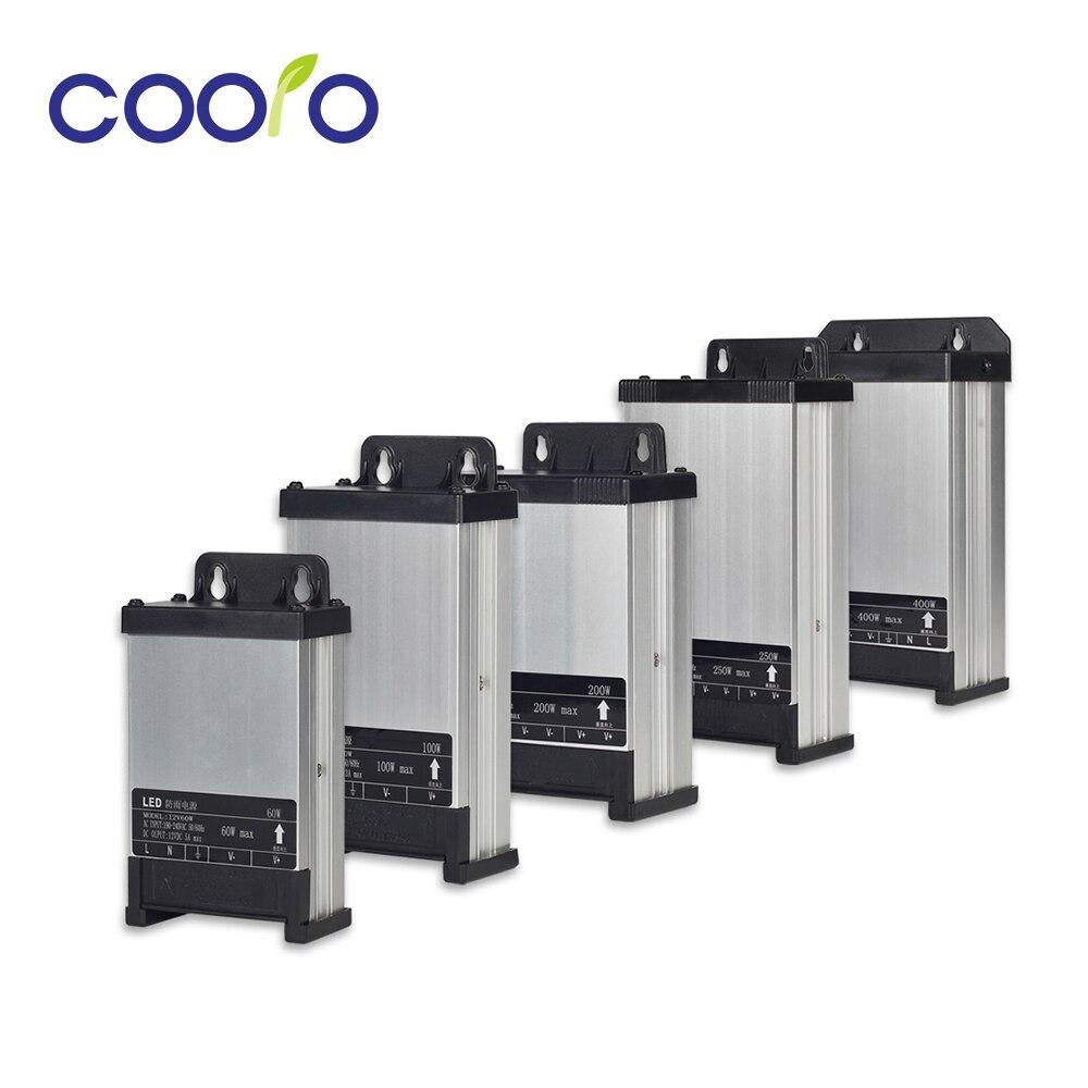 DC12V AC220V 60W 100W 200W 250W 400W LED Driver Lighting Transformer Rainproof Power Supply Outdoor Use dc12v 24v led outdoor rainproof power supply 60w 100w 200w 250w 400w led driver lighting transformers