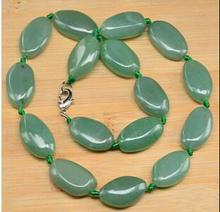 Women Gift jewelry gem chocker maxi overwatch Great Xmas Love FANTASTIC! NATURAL GREEN AVENTURINE NECKLACE