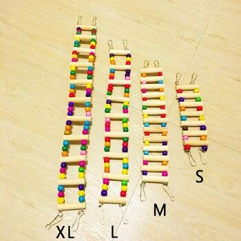 Mascota Cuerda Madera Jaula Escalera Hámster Pequeño Pájaro De Juguete Colorido Loro Juguetes Herramienta Mordedura Decoración 6IgvYfy7bm