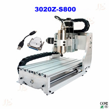 EUR free tax cnc lathe machine 3020Z-S800 3axis with 800W mini cnc milling machine for metal wood with USB parallel port adapter