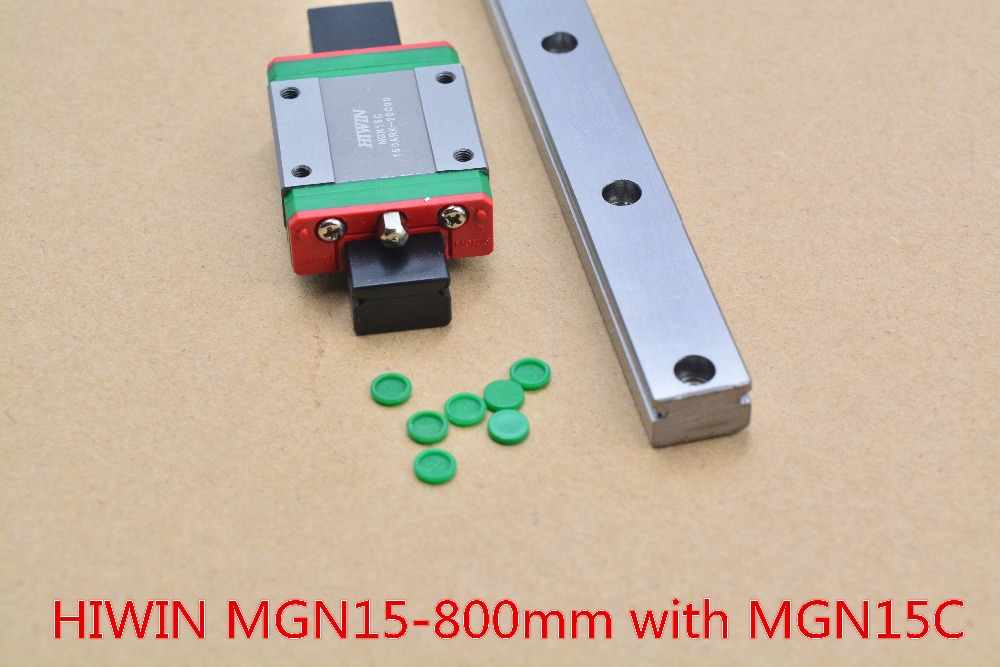 HIWIN MR15 15mm linear guide rail stainless steel rail MGN15 length 800mm with MGN15C linear block 1pcs