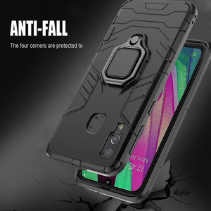 Image 3 - Armor Ring Case For huawei Y7 2019 case Magnetic Car Hold Shockproof Soft Bumper Back Phone Cover For huawei Y7 2019 case