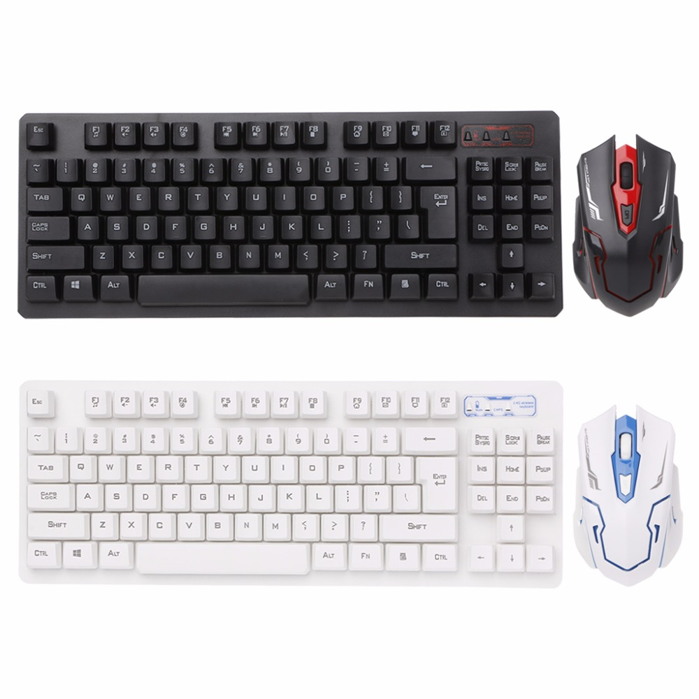 HK6300 Wireless 2.4GHz Keyboard + Mini Optical Mouse Combo Set For PC Laptop Desktop Computer Home Office C26