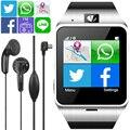 Aplus gv18 dispositivos wearable bluetooth smartwatch gps criança smart watch para Suporte por Telefone Android SIM FM NFC PK DZ09 GT08 U8