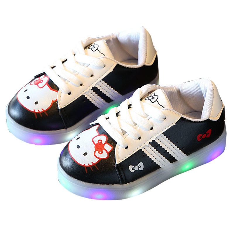 Kids Led Girls Baby Shoes with Lights Up Shoes for