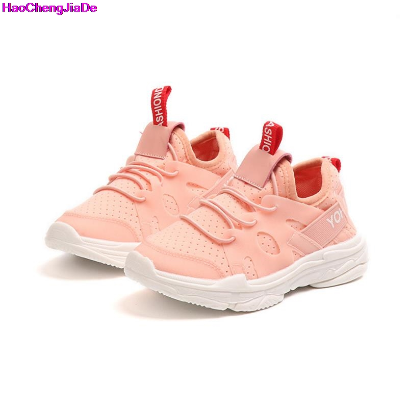 HaoChengJiaDe Top Selling Summer Boys Sneakers Children Baby Girls Net Breathable Casual Sport Shoes Kids Soft Shoes Size 21-36