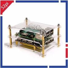New! 5-портовый USB 2.0 Концентратор Питания Модуль с Двойной Слой Акриловой Стойки для Raspberry Pi 3/2 Модель B/A +/пи Нулевой