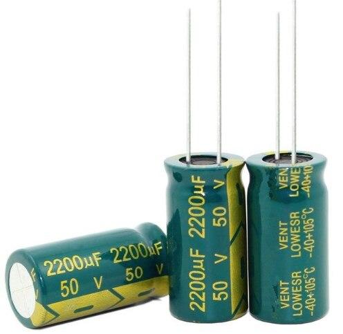 47UF 68UF 2200UF 3300UF 450V 400V 50V 16V 16*25MM de alta frecuencia de baja impedancia condensador electrolítico de aluminio
