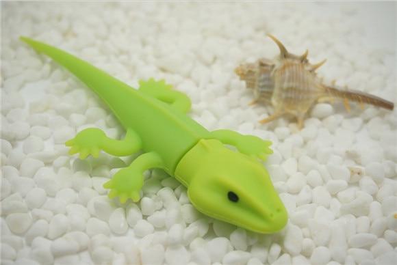 Green Lizard/Chameleon cartoon USB flash pen drive 4g 8gb 16gb 32g 64g Memory Stick Thumb/Pendrive key U Disk creative Gift S751