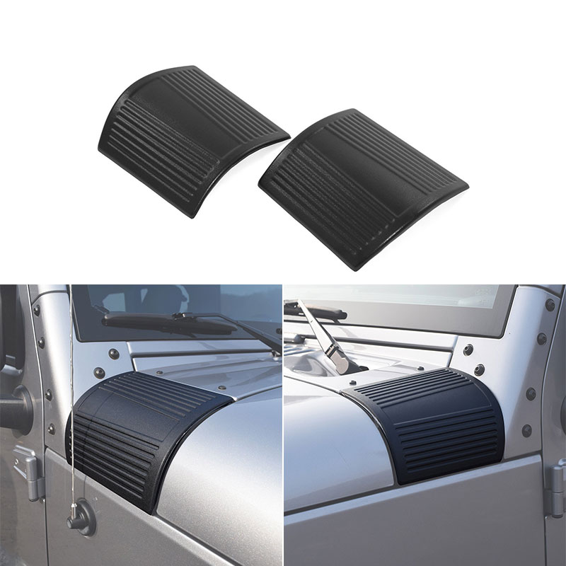 Pair For Jeep Wrangler Rubicon Sahara Jk /& Unlimited 2007-2017 Niceautoitem New 2017 Latest Durable Black Cowl Body Armor
