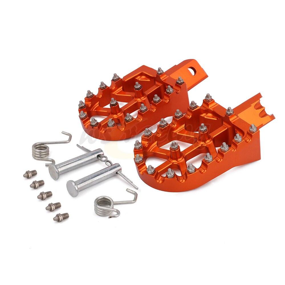 AnXin Pedales de reposapi/és universales CNC Coloridos para Honda CRF XR 50 70 110 M2R SDG DHZ SSR KAYO Pit Bike Motocicleta