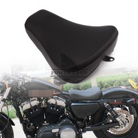 Motorcycle Leather Driver Pillow Solo Seat Front Cushion Sofa Tour Seat Bench for Harley Sportster Forty Eight XL1200 883 72 48