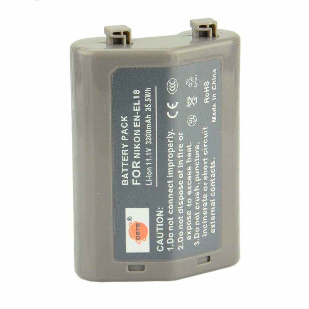 DSTE 2PCS en-el18 EN-EL18 Rechargeable Li-ion Battery For Nikon D4 D5 Camera