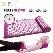 Massage Mat Acupressure Mat 67cm*42cm Yoga Lotus Spike Acupuncture Mat Relieve Back Body Pain Spike Acupuncture Yoga Mat(China)