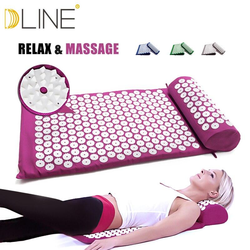Massage Matte Akupressur Matte 67cm * 42cm Yoga Lotus Spike Akupunktur Matte Entlasten Zurück Körper Schmerzen Spike Akupunktur yoga Matte