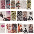 Flower Wolf Leather Wallet Stand Phone case cover For LG Leon G4 G3 G4 mini G3 Stylus/D690 G5 V10 K10  K4 K8 G4 Stylus/LS770