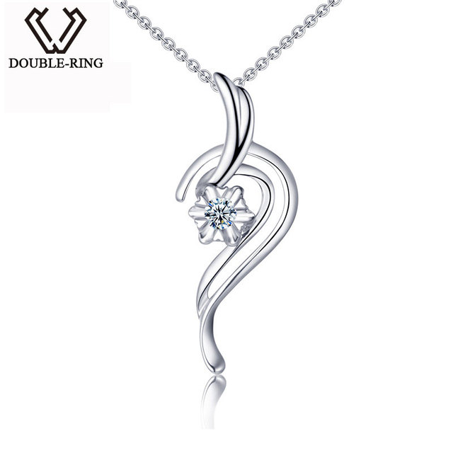 Aliexpress buy double ring unique 18k gold natural diamond double ring unique 18k gold natural diamond drop pendants 0035ct diamond new fine jewelry aloadofball Choice Image