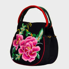 Vintage 2018 Chinese Hmong Style Embroidered Bags National Flower Candy Color Luxury Shoulder Bag Female Small Canvas Phone