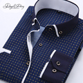 High Quality Men Shirt Long Sleeved Fashion Assorted Printing Casual Shirt Men Turn-Down Collar Dress Camisas 11 Options DS-026