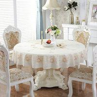PVC table cloth round table decoration diameter180cm Round table suitable for diameter 120 160 Cloth Cover Textile Decoration
