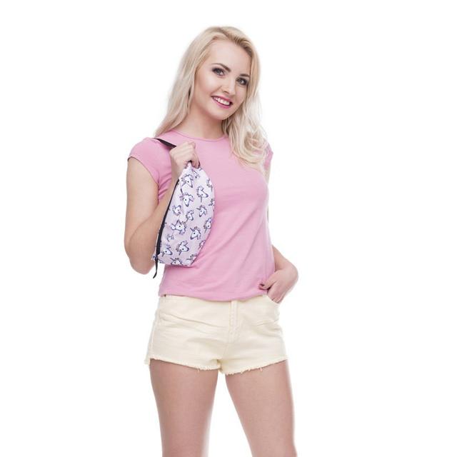 Jom Tokoy New 3D Colorful Waist Pack for Men Fanny Pack Style Bum Bag unicorn Women Money Belt Travelling Mobile Phone Bag 5