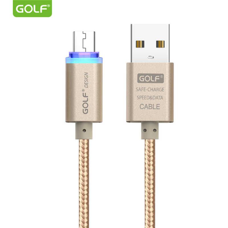 GOLF Luce del Display A LED Micro USB Cavo di Ricarica per Samsung S6 S7 Fast Charger Android Del Telefono di Sincronizzazione di Dati del Cavo per huawei Mate 7 8