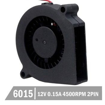 цена на 5pcs Gdstime 60mm 6cm DC 12V 2Pin Blower Fan 60x15mm Centrifugal  Blower  Cooling Cooler Fan