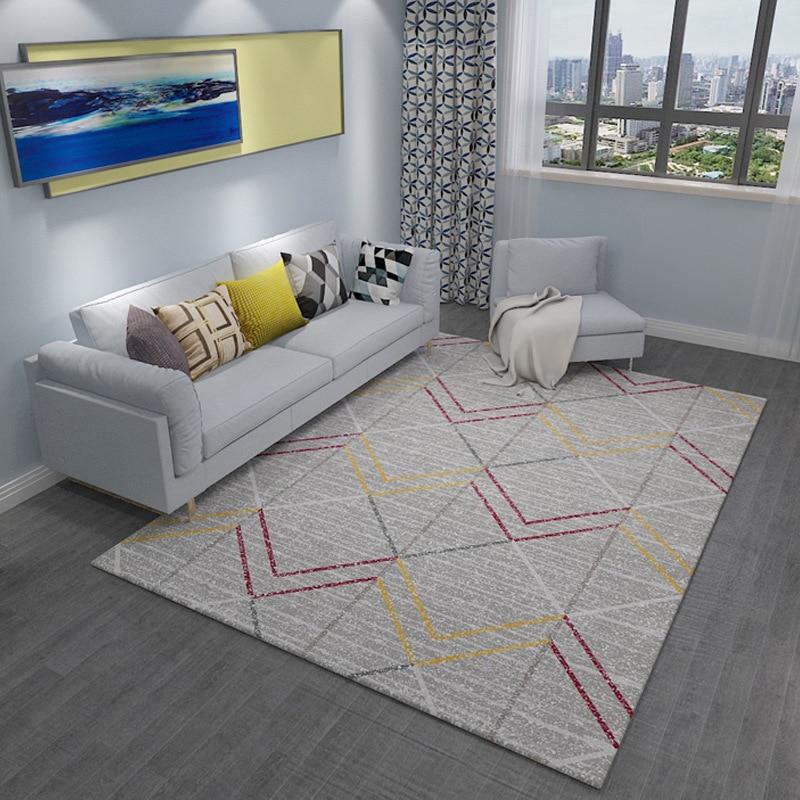 Tapis simples pour salon géométrique abstrait grand tapis antidérapant tapis enfants chambre décor à la maison chambre Rectangle tapis - 2