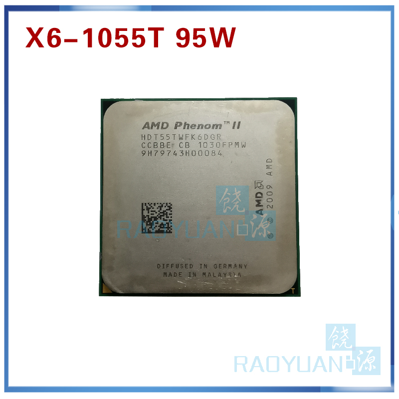 AMD Phenom X6 1055T X6 1055T 2 8GHz Six Core CPU Processor HDT55TWFK6DGR 95W Socket AM3