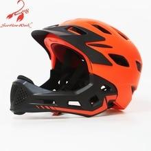 Pro protection kids bike helmet 2019 children full face cycling helmet sport mountain road bicycle BMX race triathlon prevail