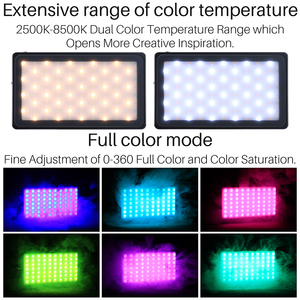Image 2 - VIJIM VL 2 RGB LED וידאו אור 2500 K 8500 K Dimmable מנורת צילום תאורה עבור Sony ניקון DSLR מצלמות