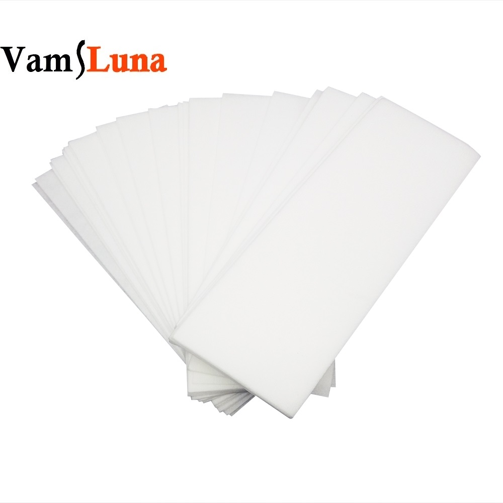 100X Nonwoven Wax Strip For Hair Removal Depilatory Roll Waxing Paper Health Beauty