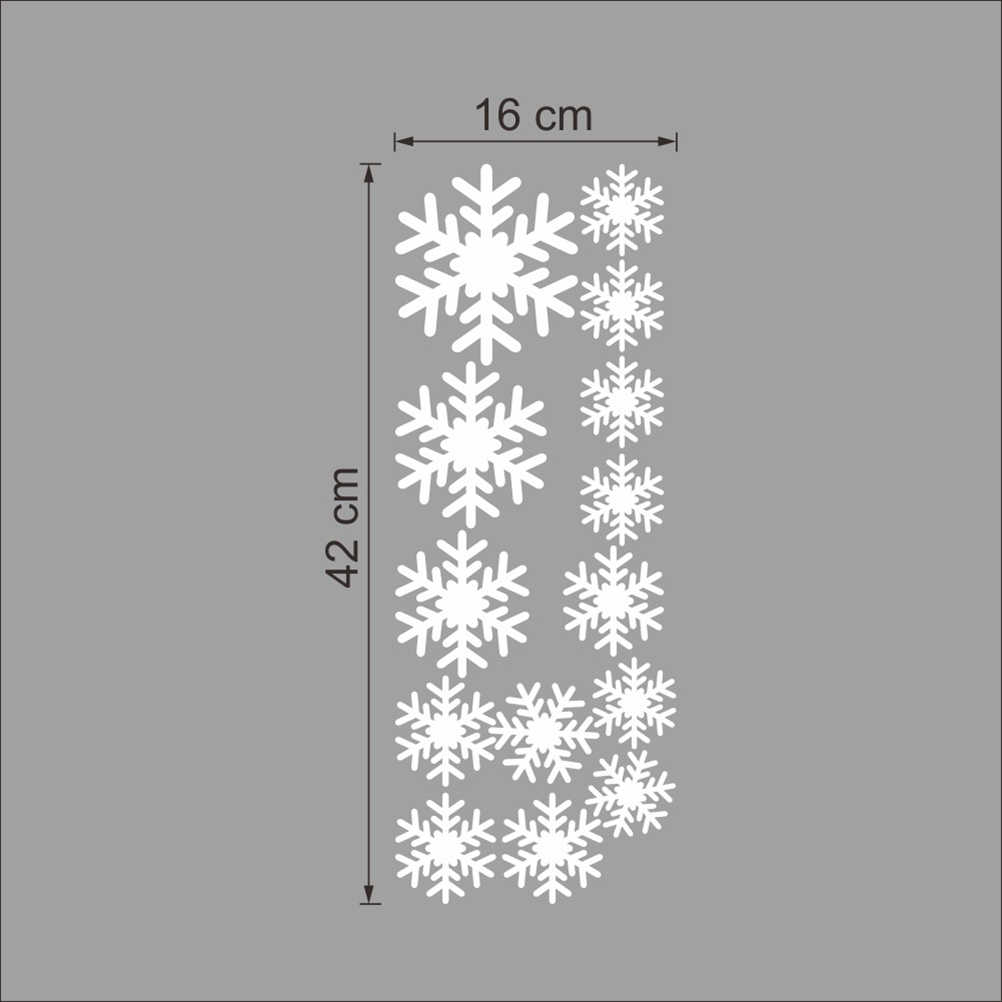 Снежинки настенные наклейки DIY фрески Рождественская вечеринка Декор аксессуар (белый)