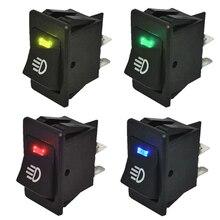 4 Uds. De balancín de luces antiniebla Universal para coche, 12V, 35A, panel de instrumentos LED de 4 pines