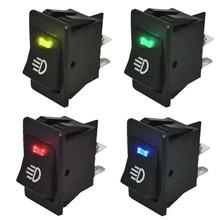 4Pcs 12V 35A Universal Car Fog Light Rocker Switch LED Dash Dashboard 4Pin