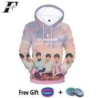 LUCKYFRIDAYF BTS KPOP BTS Album BTS LOVE YOURSELF Turn Tear 3D Printing Cotton Oversized Hoodies Sweatshirts