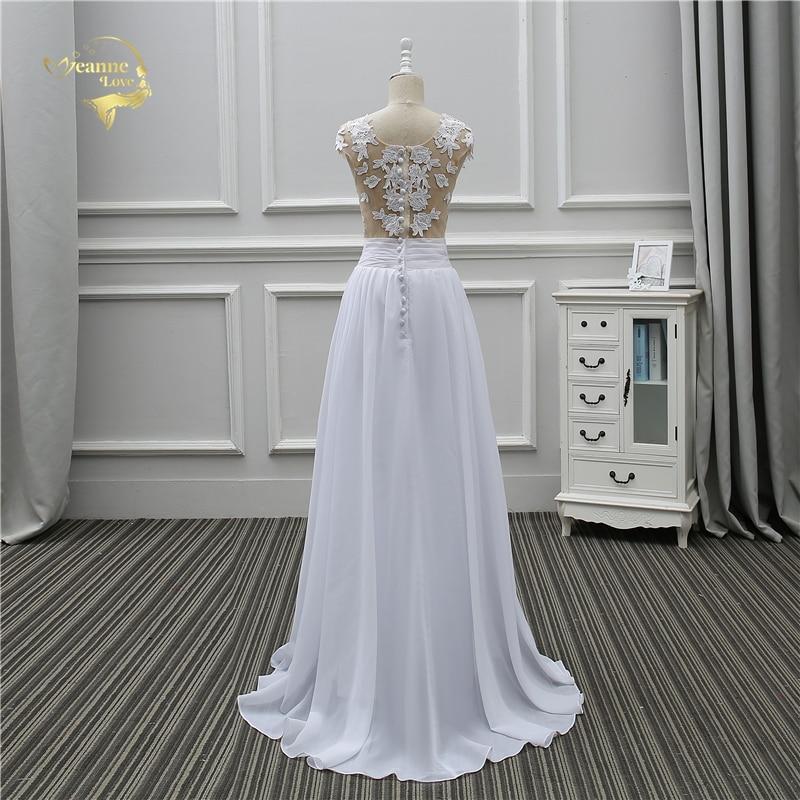 Jeanne Love Sexy Lace White Beach Wedding Dresses 2018 Newest Perspective Robe De Mariage JLOV75982 Vestido De Noiva Trouwjurk 3