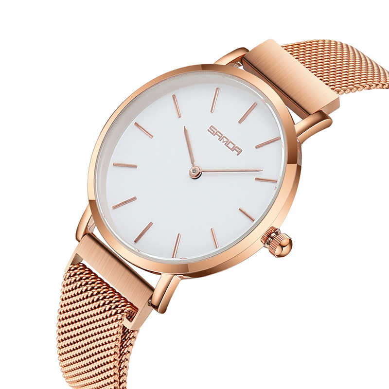 Rose Gold Simple Women Watches Magnet Buckle Luxury Female Rose Gold Clock Waterproof Ladies Watch relogio feminino montre femme