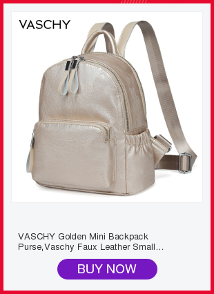 cda77eb1a VASCHY Golden Mini Backpack Purse,Vaschy Faux Leather Small Backpack ...
