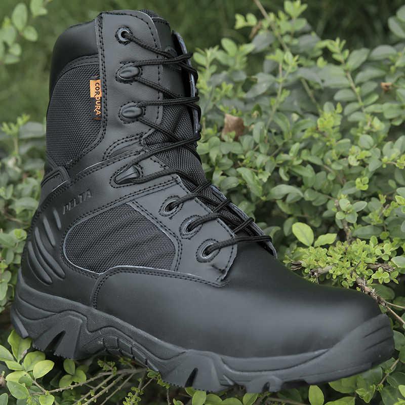 Военные тактические мужские ботинки, специальная сила, кожа, водонепроницаемые, дезерты, армейские ботинки, Рабочая обувь, большие размеры 39-47