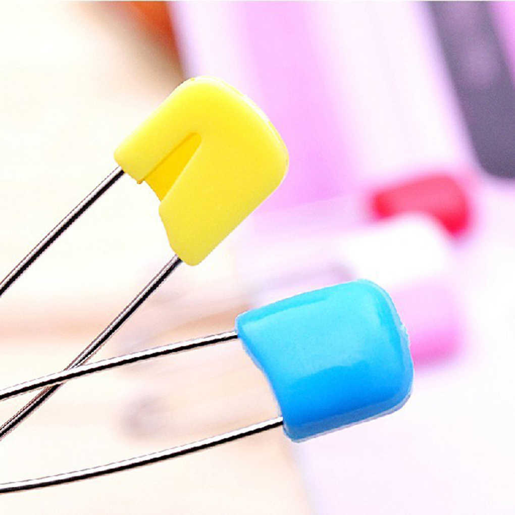Multi-Tujuan Keselamatan Bayi Pin Kain Popok Pakaian Perbaikan Bukti Anak Safety Pin Kepala Plastik Warna Acak