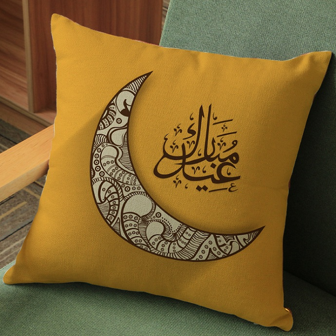 Islam Cushion Covers Ramadan Moon Beige Pillow Case 11 Style Thin Linen  Cotton Pillow Covers 45X45cm 95g Bedroom Sofa Decoration In Cushion Cover  From Home ...