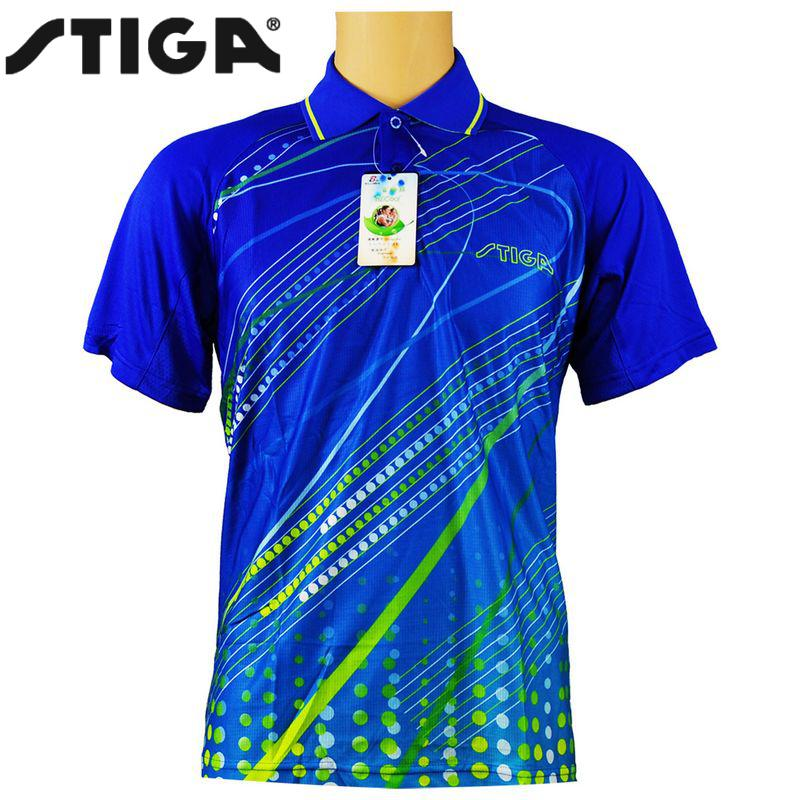 2018 Stiga Table tennis clothes for men and women clothing T-shirt short sleeved shirt ping pong Jersey Sport Jerseys